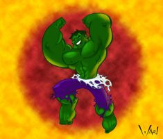 Hulk Leap Colored by WarBrown