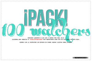 PACK - 100 watchers! by ByPsychopath