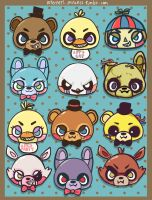 Five Nights at Freddy's Cuties by Hohoemii