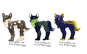 Breedable Canines - Free - Open by Artzy-Adopts