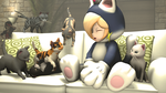Cat Rosalina and cats by ShadamyFan4everS