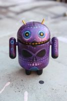 Purple Google Android Figure by bryancollins