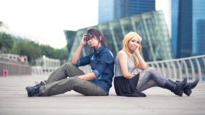 Tiger and Bunny :: Serious Man, Happy Girl by dancingontightrope