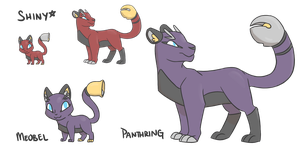 Fakemon: Meobel/Panthring by NeoTheBean