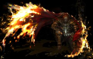 The flames of hell by AkiruNyang