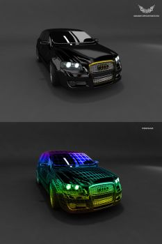 Audi A3 Gold edition by aram287