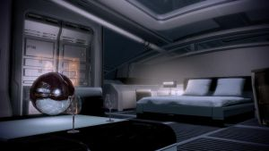 Shepard's Quarters - First person from couch by loraine95