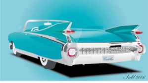 1959 Cadillac Vector Art by Jetster1