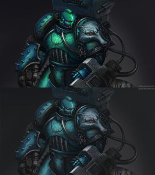 Messor Bitterhand (Alpharius) in disguise by Inkary