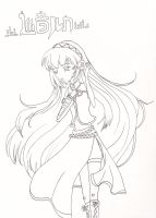 Vocaloid: Luka Line Art/Coloring Page by NeoSailorCrystal