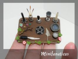 Wiccan Altar by Minifanaticus