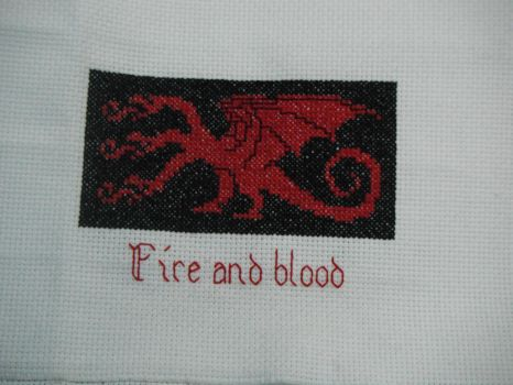 Fire And Blood Cross Stitch by dottypurrs1