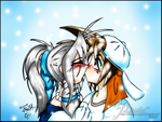 A Kiss In The Snow by mpfox