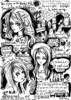 Diary in Doodles by hollowxribcage