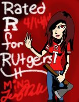 Rated R for Rutgers by minajruby101