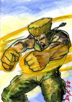 Guile Sketch Card by DKuang