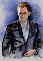 Hiddles Watercolor Sketch by DafnaWinchester