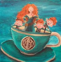 Brave in Tea Cup by billywallwork525