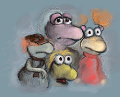 Sad Fraggles by clotus