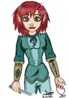 an amazing Elf Colored by JadeTheAngle777
