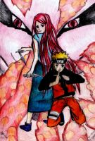 Naruto, Kushina and the Kyuubi by NinjaWithAHat