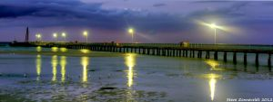 Rosebud Jetty By Night by djzontheball