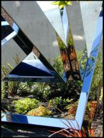 Geometric Garden Reflections by MulchMedia