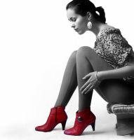 Red shoes by purplesinner