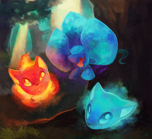 Commission: Elementals by salanchu