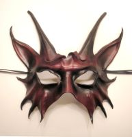 Leather Horned Animal Creature Mask by teonova