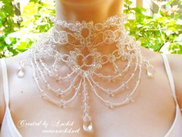 Wedding crystal necklace Mylene Farmer by Anchik22