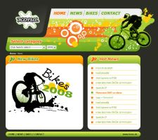 Kona bike webdesign by CharlieGraphics