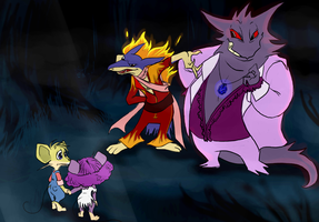 The Gengar and Jebediah the Ratatta by SkooIsCoo