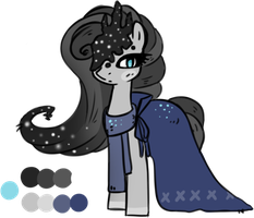 Nighttime sky Pony Adoptable Auction - CLOSED by Loser-Derpy