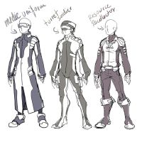 Sketch 114 :  Crew  Uniform 2 by ManiacPaint