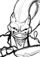 Gotenks Buu WIP by G-Chris