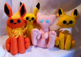 Pokemon Plushies ~For Sale~ by FuzzyAliens