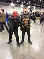Redhood and Deathstroke (FanExpo Vancouver 2014) by GingerBaribuu
