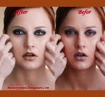 Befor and After retouch 3 by RubyRosy