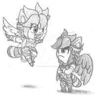 Contest Prize: Raccoon Angels by SkyTheVirus