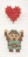 Link and Heart from Legend of Zelda cross stitch by Lil-Samuu