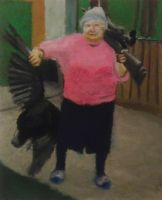 Granny with Dead Crow by QuixoticouS