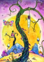 the Cocoon by dragonflywatercolors