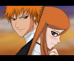 Bleach: IchiHime by Ninja-8004