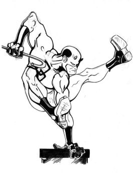 Daredevil - hard B and W by tryin2get-there