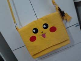 Handmade Anime Pokemon Pikachu Side Bag by RbitencourtUSA