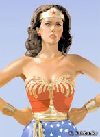 Lynda Carter as Wonder Woman (vector drawing) by eyeqandy