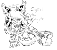 AT:.:Crystal the coyote:.: by Chime-Fawler