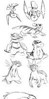 Pokemon Design Sketches by BlazeDGO