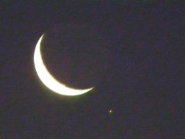 The Moon and Venus by Agatje